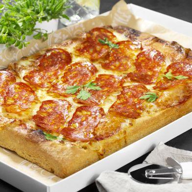 Teglia pizza spianata piccante